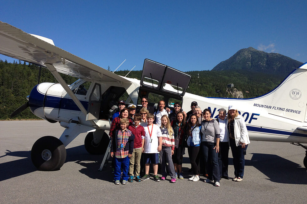Flightseeing group tours.