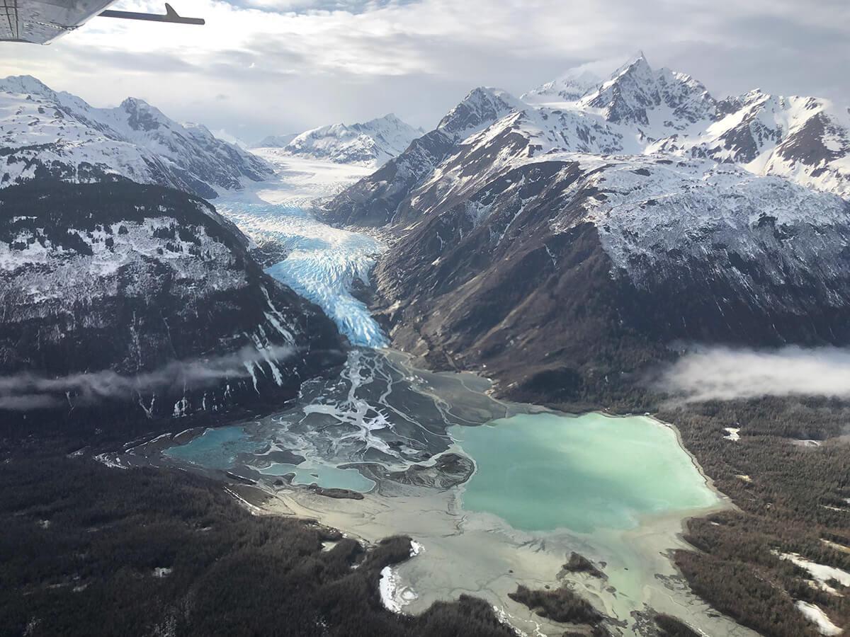 Davidson Glacier in spring