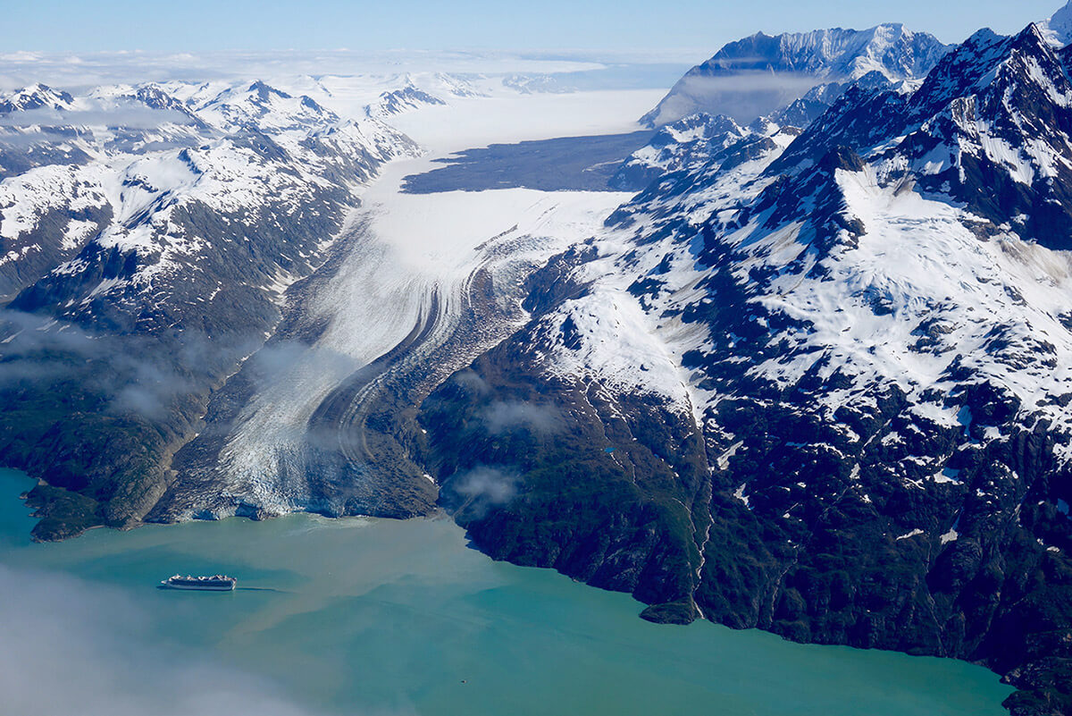 Massive landslide in Glacier Bay