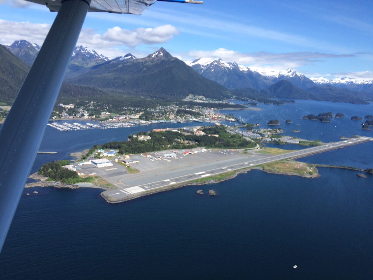 Flying in to Sitka.